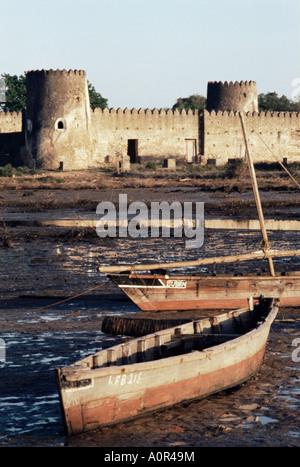 Siyu Fort Pate Kenya East Africa Africa - Stock Photo
