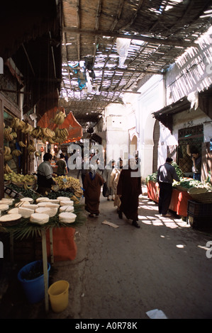 The souk in the medina the old walled town Fes Morocco North Africa Africa - Stock Photo