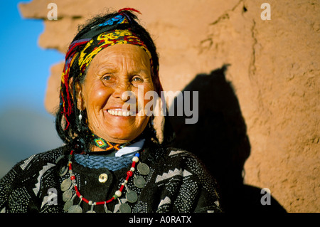 Berber woman in traditional clothing Telouet near Ouarzazate Morocco North Africa Africa - Stock Photo