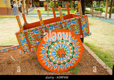 The crafts town of Sarchi famous for its decorative painting and ox carts Central Highlands Costa Rica Central America - Stock Photo