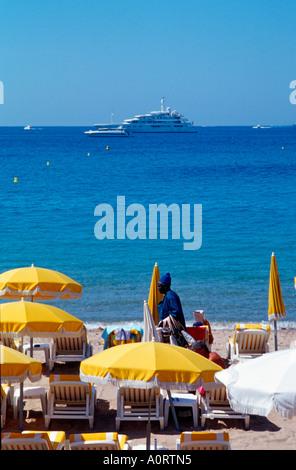 Beach / Cannes / Strand - Stock Photo