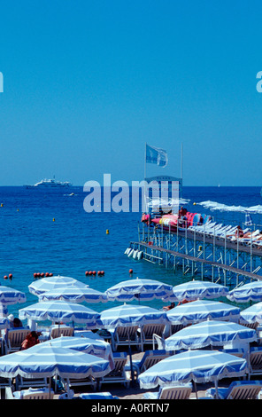 Parasols at beach / Cannes / Sonnenschirme am Strand - Stock Photo