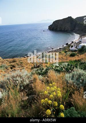 Filicudi Aeolian Islands Lipari Islands UNESCO World Heritage Site Italy Mediterranean Europe - Stock Photo