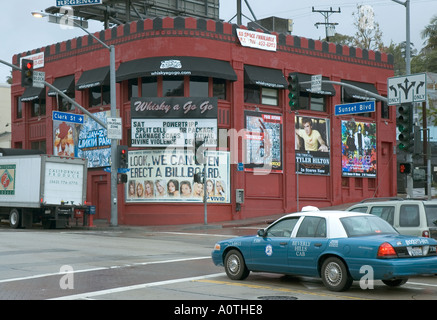 The Whiskey A Go Go music venue on Sunset Boulevard in West Hollywood - Stock Photo