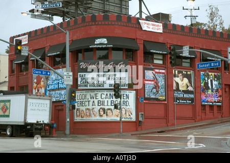 The Whiskey a Go Go music venue on Sunset Boulevard in Hollywood California - Stock Photo