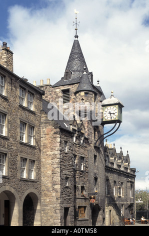 Canongate Tolbooth historic landmark in Old Town on the Royal Mile of Edinburgh Scotland UK now occupied by The - Stock Photo