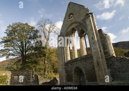 the ruined Cistercian Abbey of Valle Crucis near Llangollen in Denbighshire north Wales UK - Stock Photo