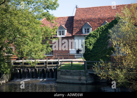 Flatford Mill, in John Constable country, Suffolk. - Stock Photo