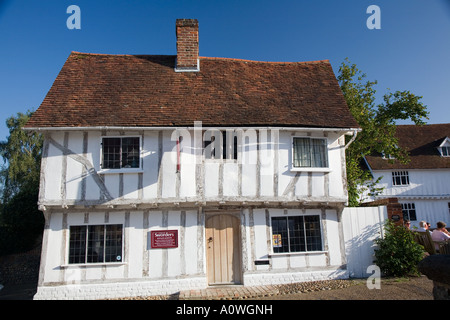 White House in Lavenham, Suffolk, England. - Stock Photo