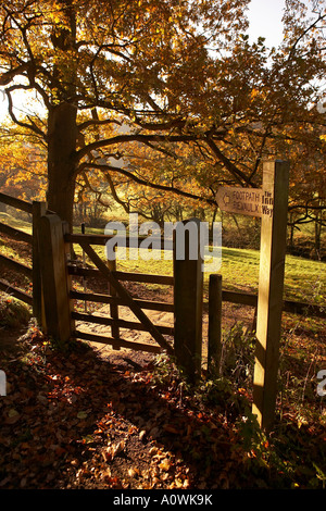 Public footpath on The Inn Way near Rievaulx Abbey, UK - Stock Photo
