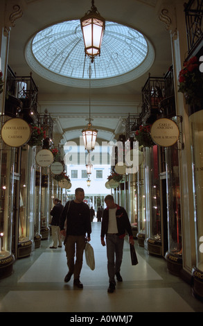 United Kingdom, England, London. Piccadilly Arcade shopping mall in London s west end - Stock Photo