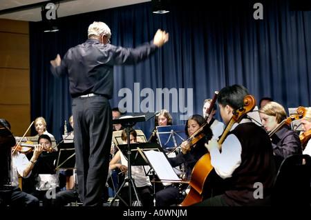 World Music Day, PARIS France, 'Fête de la Musique' Classical Music at German Cultural Center Goethe Institute Orchestra - Stock Photo