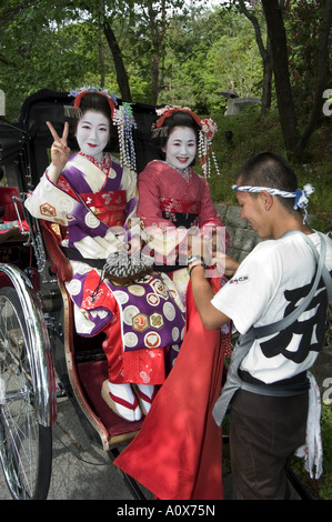 Geisha maiko trainee geisha in costume Kyoto city Honshu island Japan Asia - Stock Photo