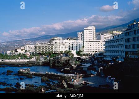 Puerto de la Cruz Tenerife Canary Islands Spain Europe - Stock Photo