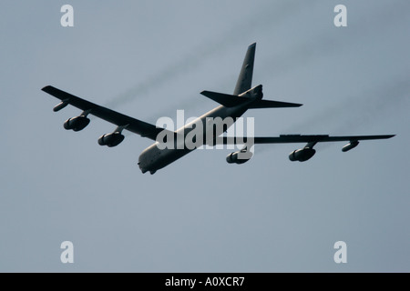 USAF B 52H flies by at RIAT 2005 RAF Fairford Gloucestershire England UK - Stock Photo
