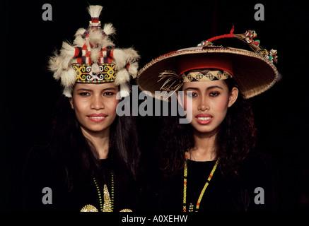 Orang Ulu tribal people Sarawak Malaysia island of Borneo Asia - Stock Photo