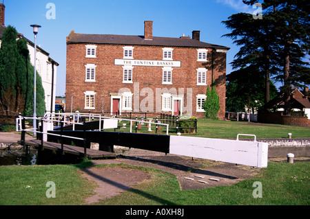 Stourport Basins Staffordshire Worcestershire Canal River Severn Worcestershire England United Kingdom Europe - Stock Photo