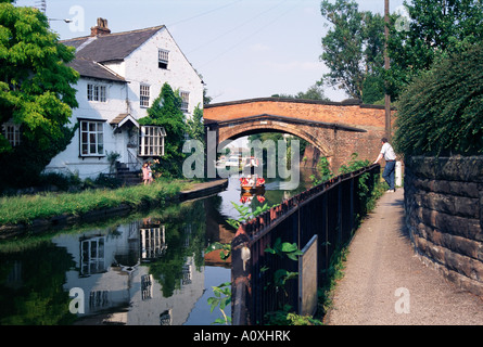 Bridgewater Canal completed in 1767 Lymm Cheshire England United Kingdom Europe - Stock Photo