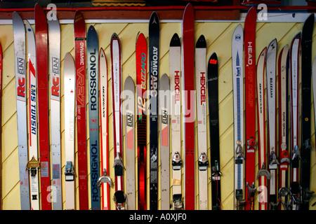 Vintage Skis For Decoration