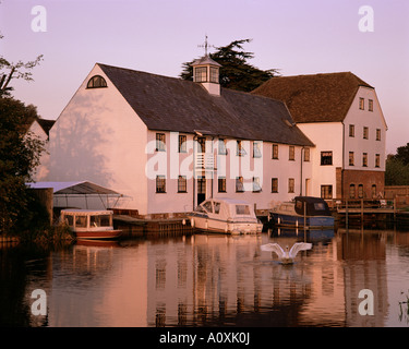 Hambleden Mill on the River Thames near Henley Buckinghamshire England United Kingdom Europe - Stock Photo
