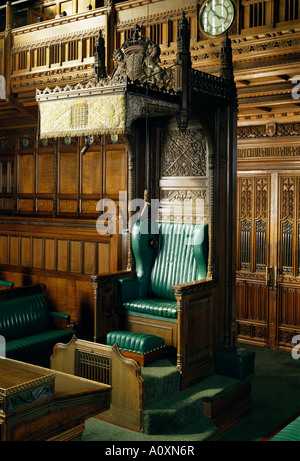 Interior Of The Commons Chamber Houses Of Parliament Westminster London  England United Kingdom Europe   Stock