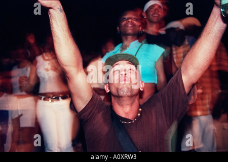 Havana, Cuba. Hip Hop fans, live concert at Amfiteatro Almendares - Stock Photo