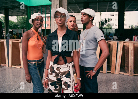 Havana, Cuba. Hip Hop fans at Club Pabellon - Stock Photo