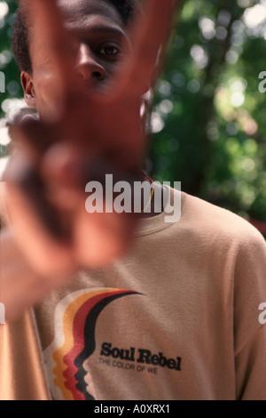 CUBA HAVANA Cuban rapper Profundo - Stock Photo