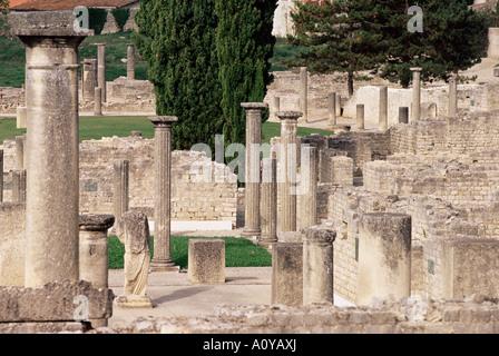 Roman ruins Vaison la Romaine Vaucluse Provence France Europe - Stock Photo