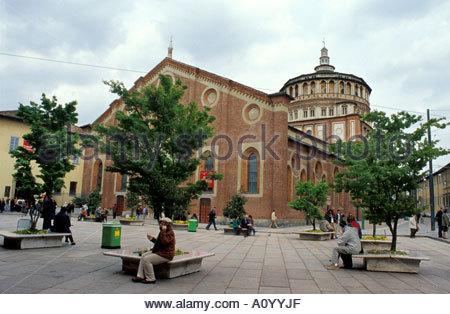 Santa Maria delle Grazie Milan Lombardy Italy - Stock Photo