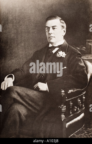 Joseph Chamberlain 1836 to 1914 father of Neville Chamberlain Member of Parliament - Stock Photo