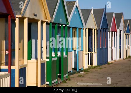 beach huts sutton on sea lincolnshire - Stock Photo