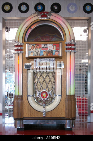 Rock Ola jukebox - Stock Photo
