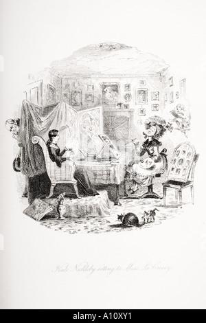 Charles Dickens novel Nicholas Nickleby - Stock Photo