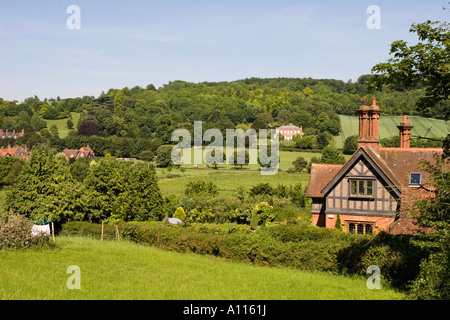 Thames Valley near Hambleden Village - Buckinghamshire - Stock Photo