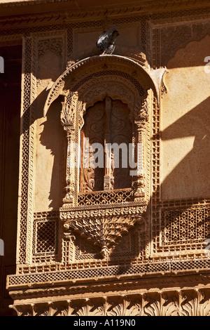 UGA75912 Zarokhas Patwon ki Haveli Jaisalmer Rajasthan India - Stock Photo