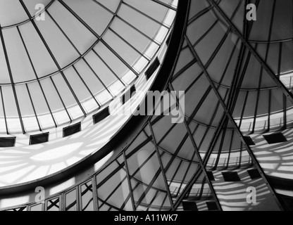 rotunda architectural detail of Schirn Art Gallery in Frankfurt Main Germany - Stock Photo