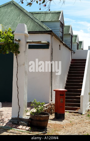The cellar and winery at the Post House estate Stellenbosch western cape South Africa RSA - Stock Photo