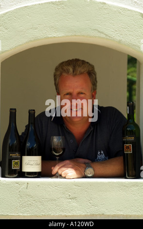 Nick Gebers winemaker and owner of Post House winery estate Stellenbosch western cape South Africa RSA - Stock Photo