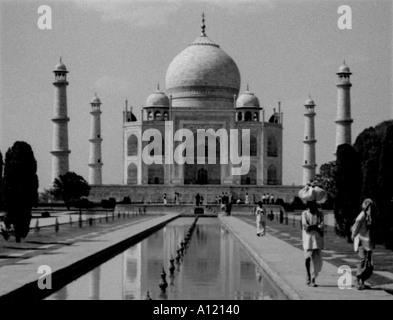 India Agra Taj Mahal - Stock Photo