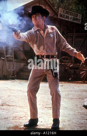 Gunfight In Abilene Year 1967 Director William Hale Bobby Darin - Stock Photo
