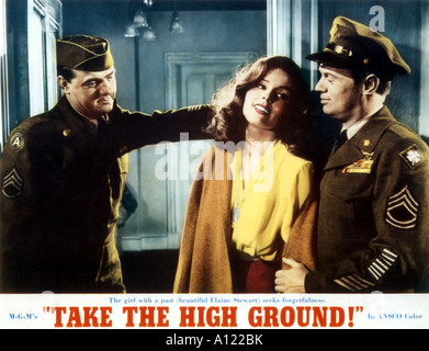 Take The High Ground Year 1953 Director Richard Brooks Richard Widmark Karl Malden Elaine Stewart hobby card - Stock Photo