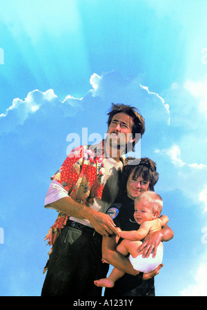 Raising Arizona Year 1986 Director Joel Coen Nicolas Cage Holly Hunter - Stock Photo