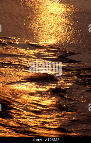 evening light on the river adur in shoreham west sussex - Stock Photo