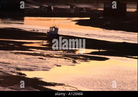 evening light on the river adur in shoreham - Stock Photo