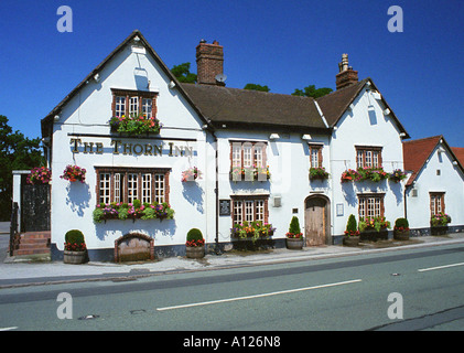 The Thorn Inn, Appleton Thorn, Warrington, England - Stock Photo