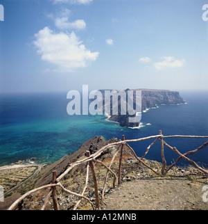 view of Ilheu da Cal from Porto Santo island, Madeira Portugal - Stock Photo