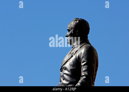 Daniel Webster statue in front of the Massachusetts State House in Boston. Digital photograph - Stock Photo
