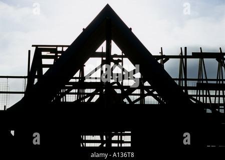 House under construction in Kesgrave near Ipswich, Suffolk, UK. - Stock Photo