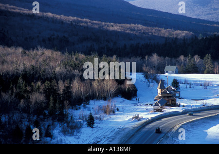 Crawford Depot train station in New Hampshire s White Mountains From Elephant Head Winter Crawford Notch Carroll - Stock Photo